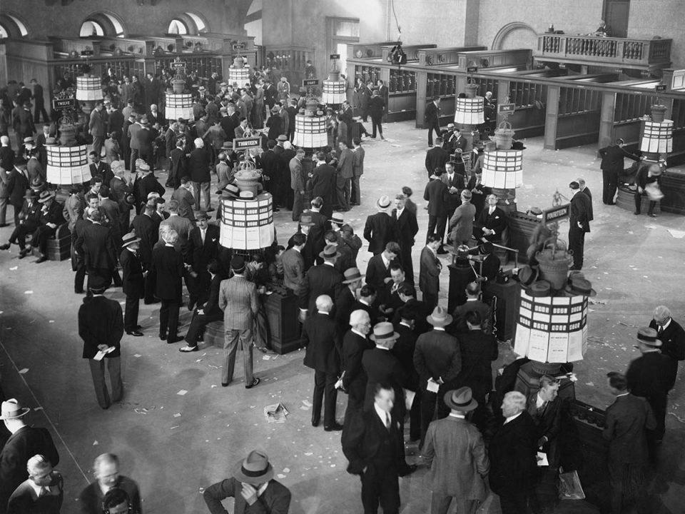 Historisches Bild Börse