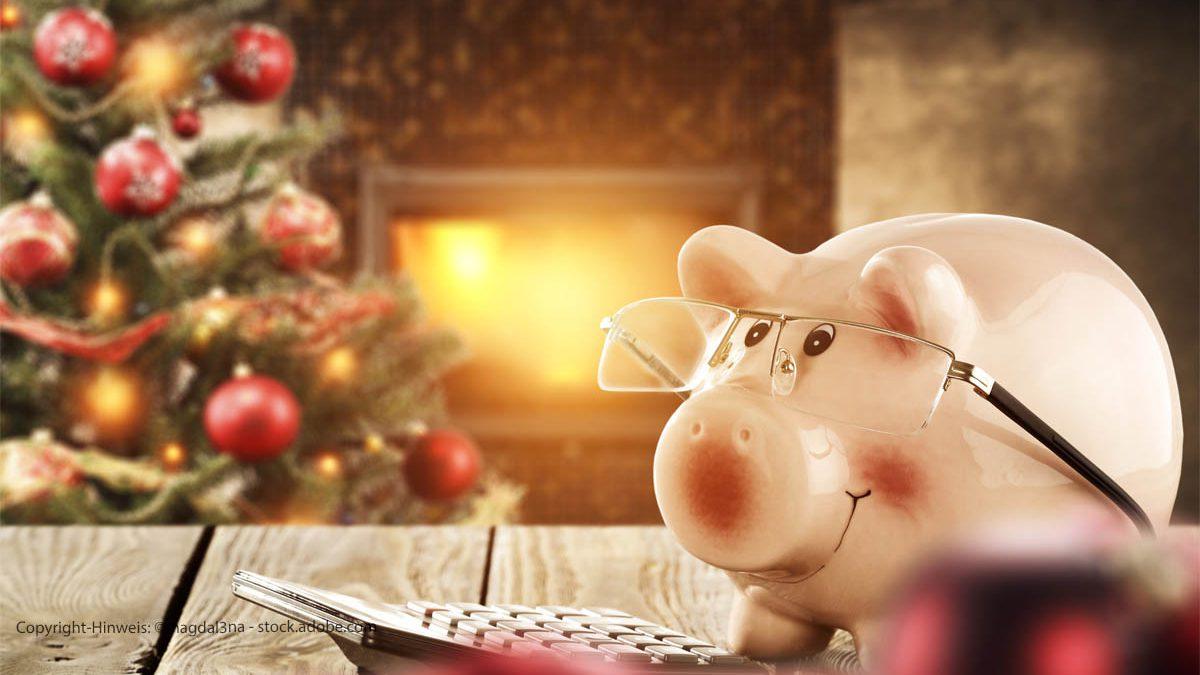 Sparschwein zu Weihnachten